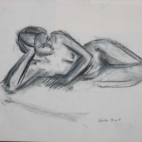 Brill, Carla (1906-Frankfurt/M.-1994, deutsche Bildhauerin, Malerin und Zeichnerin, Meisterschülerin von Max Beckmann am Städel in Frankfurt/M.) - photo 2