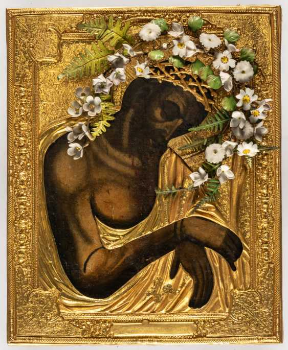 THE SUFFERING CHRIST WITH A CROWN OF THORNS - photo 1