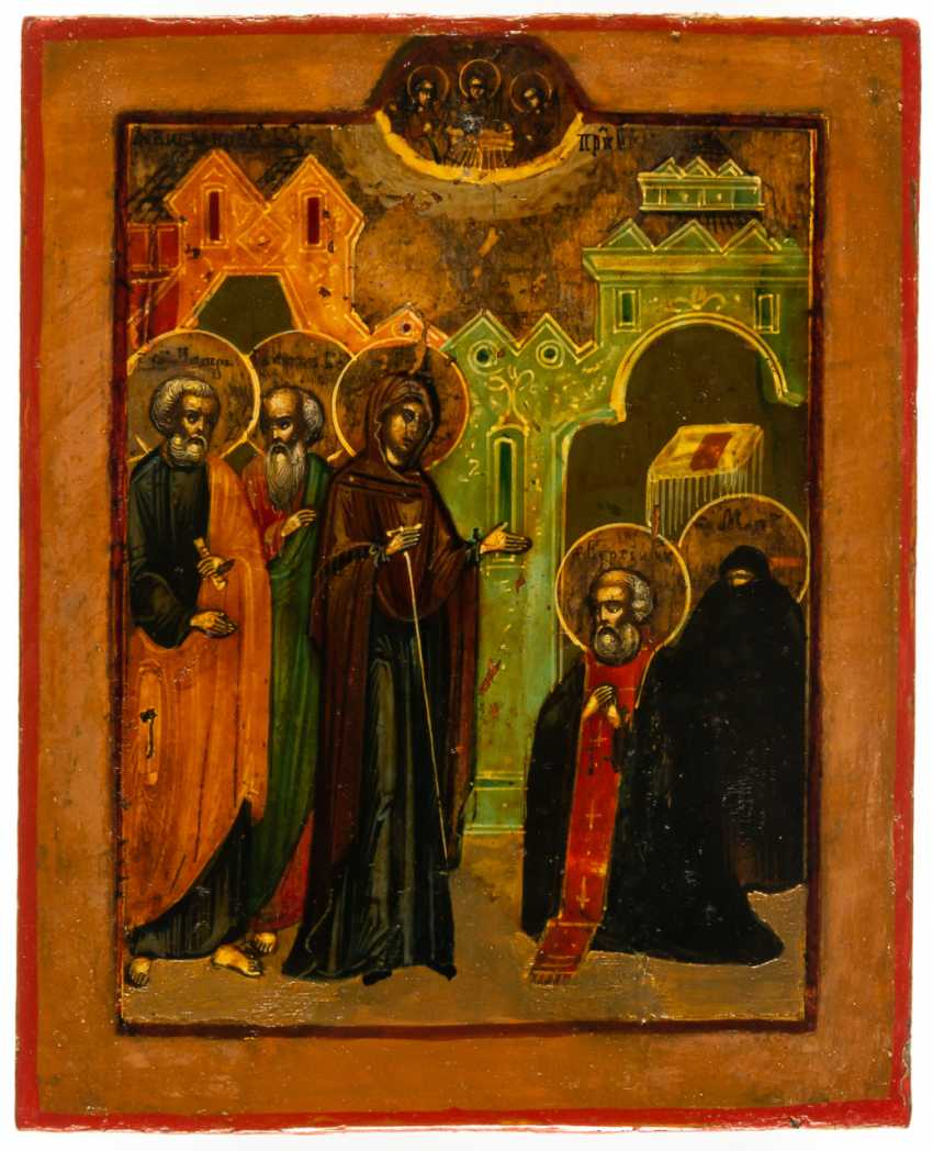 THE MOTHER OF GOD APPEARS TO ST. SERGIUS OF RADONESH - photo 1