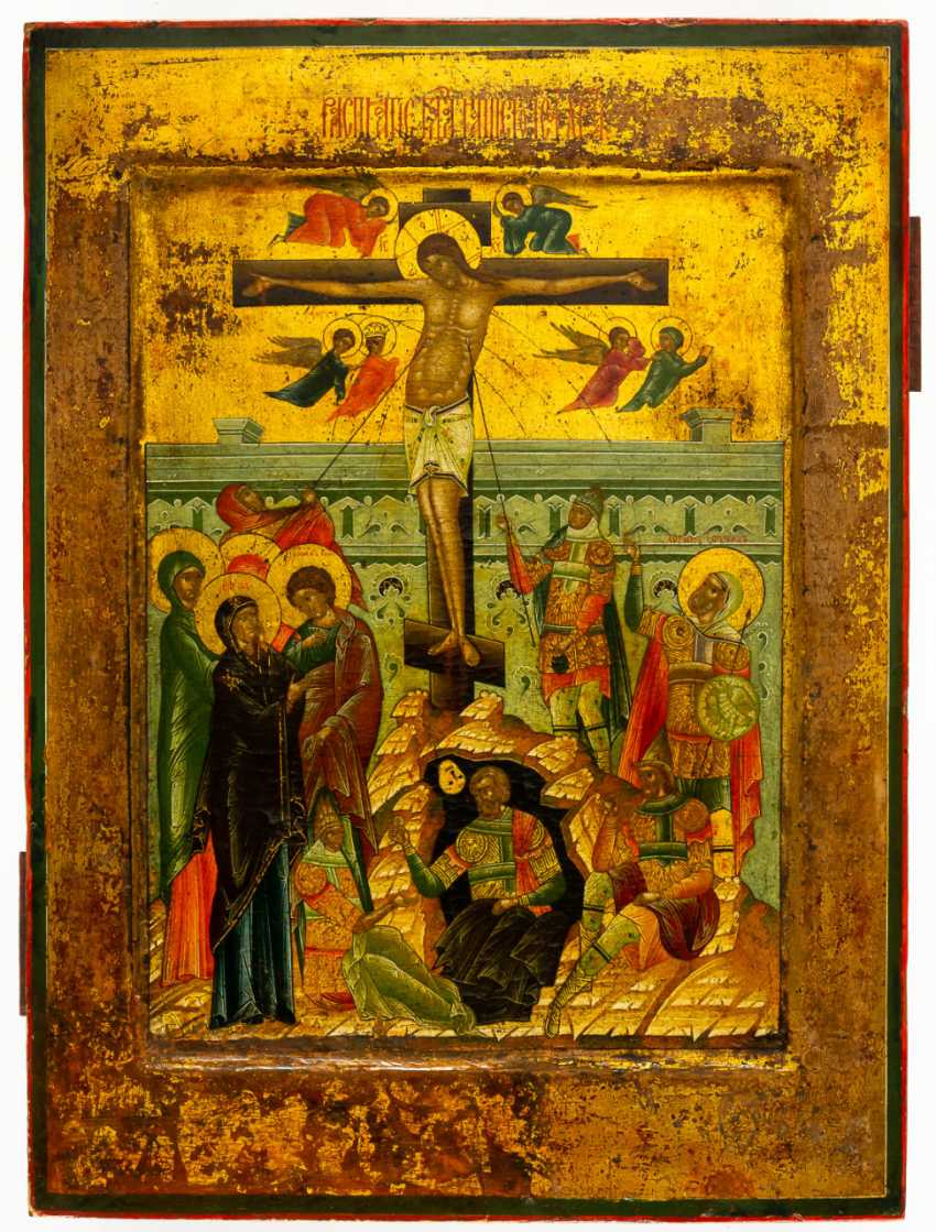 CRUCIFIXION OF CHRIST WITH RARE SCENES - photo 1
