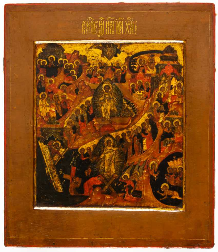 ANASTASIS (RESURRECTION AND DESCENT INTO HELL OF CHRIST WITH SIDE SCENES) - photo 1