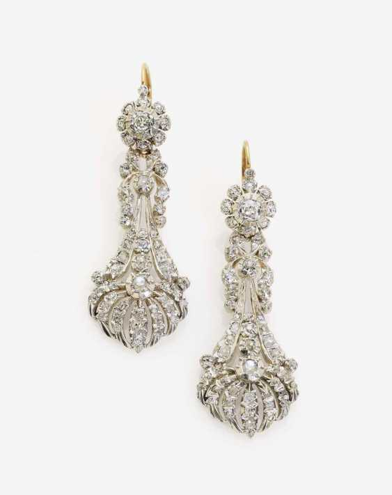 HISTORICAL DROP EARRINGS DECORATED WITH DIAMONDS - photo 1