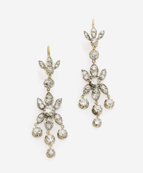 A FEW HISTORICAL DROP EARRINGS DECORATED WITH DIAMONDS - photo 1