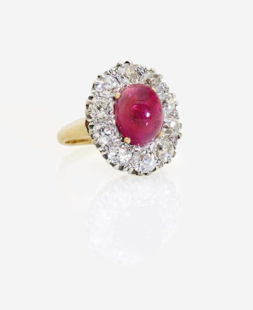Broschen & Anstecknadeln Diamanten & Edelsteine Rubin Diamant Brosche Mit Brillanten Brillianten Und Rubinen 750 Weißgold Nade*