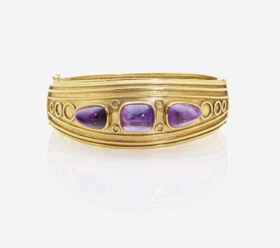 BRACELET WITH AMETHYSTS - photo 1