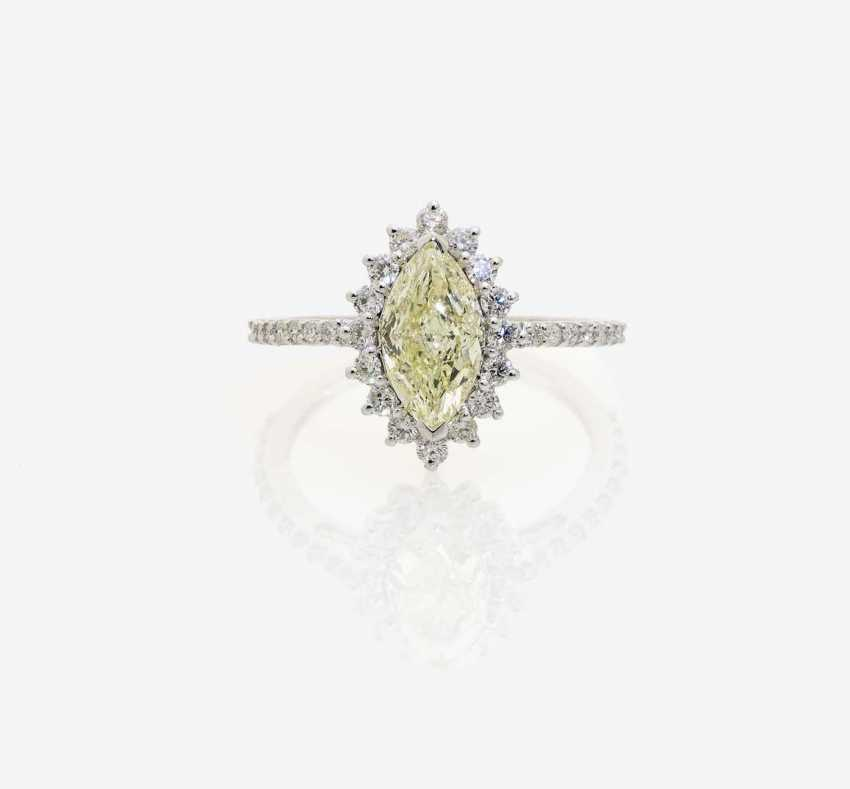 RING WITH A YELLOW DIAMOND - photo 1