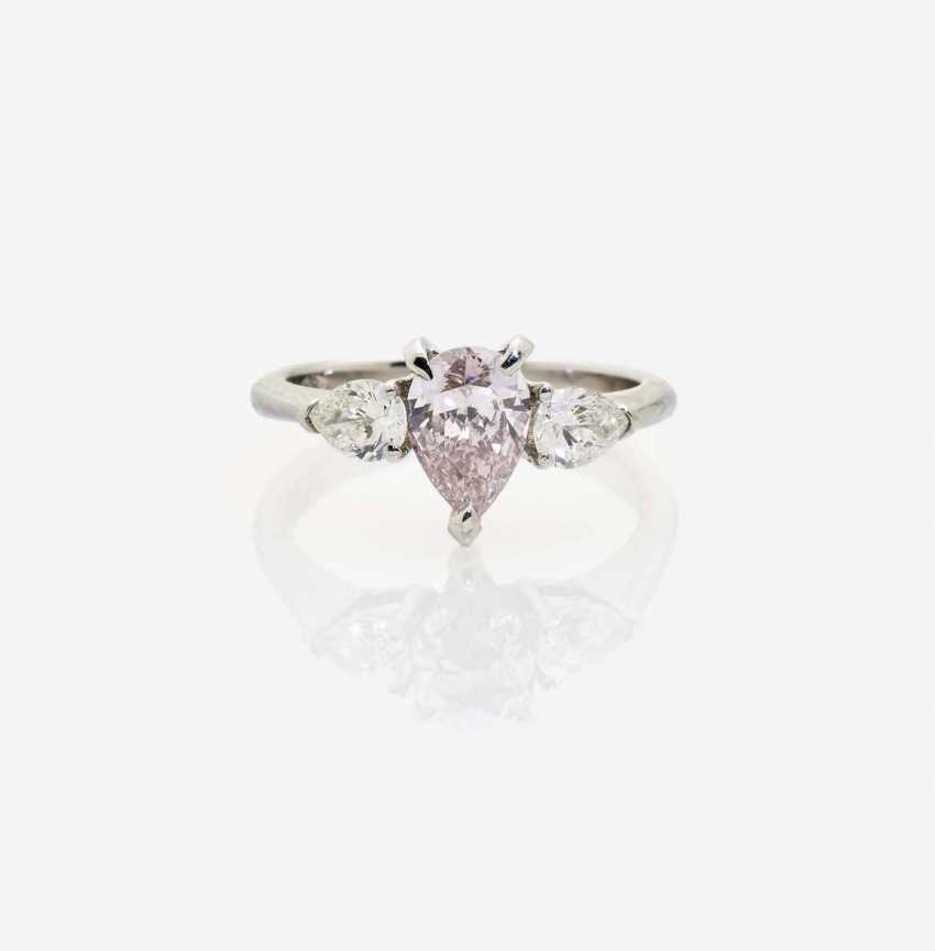 RIVIÈRERING DECORATED WITH White AND PINK diamond drops - photo 1