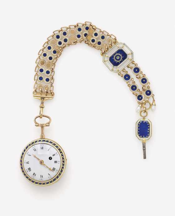 POCKET WATCH WITH CHATELAINE, SOG. MONTRE À TOCK - photo 1