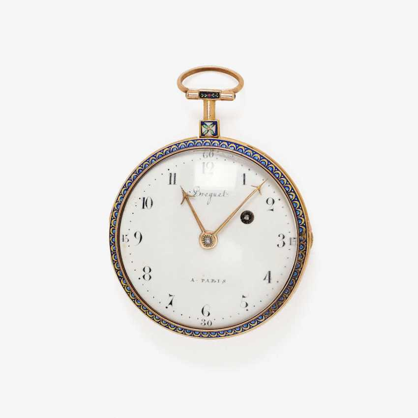 EXQUISITE SPINDLE POCKET WATCH WITH FINE ENAMEL PAINTING - photo 1