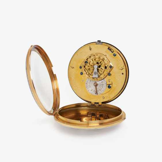 EXQUISITE SPINDLE POCKET WATCH WITH FINE ENAMEL PAINTING - photo 3