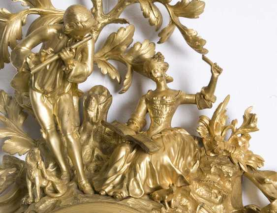 Large, heavy Louis XV cartel clock