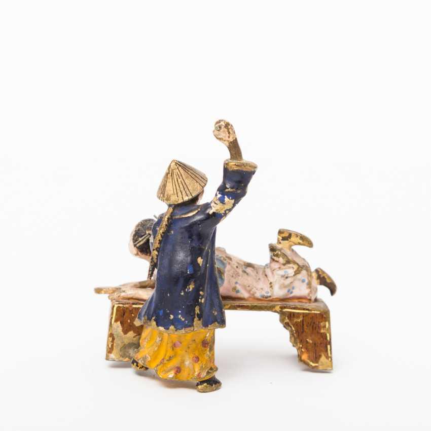 lot 859 bergmann franz 1861 1936 vienne bronze chinois couple du catalogue art. Black Bedroom Furniture Sets. Home Design Ideas