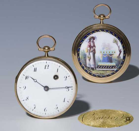 Gold-Enamel-Spindle Pocket Watch. - photo 1