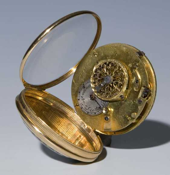 Gold-Enamel-Spindle Pocket Watch. - photo 3