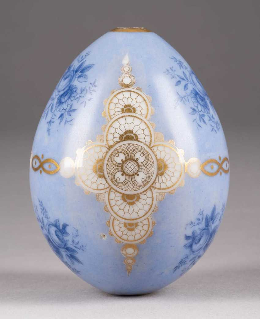 EASTER EGG WITH FLORAL BOUQUETS AND GOLD ORNAMENTS Russia - photo 1