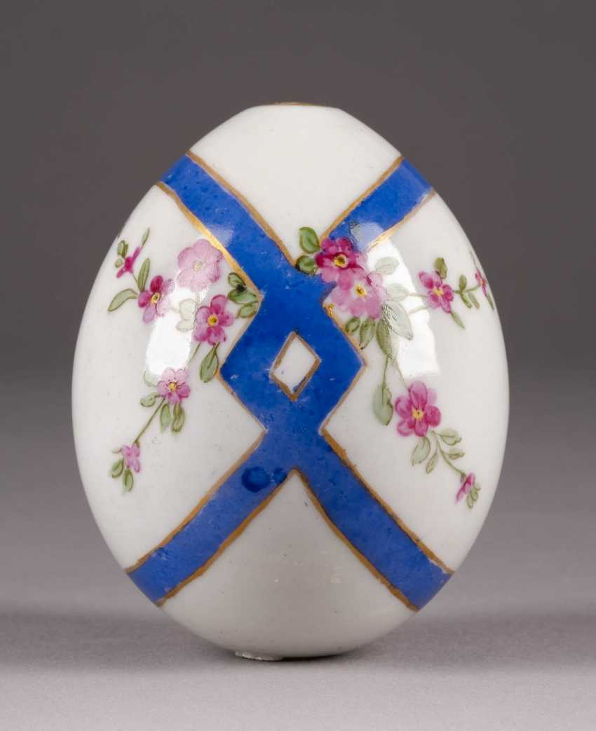 EASTER EGG WITH BLUE RIBBON AND FLORAL DECOR Russia - photo 1