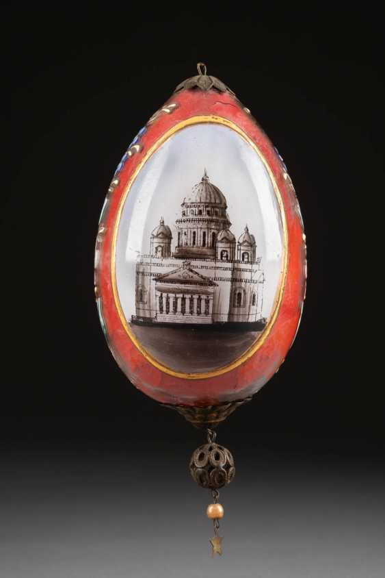 EASTER EGG WITH THE KAZAN CATHEDRAL IN ST. PETERSBURG Russia - photo 1