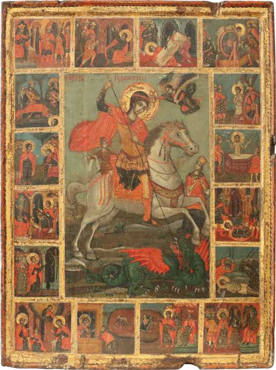 LARGE-FORMAT VITA ICON OF ST. GEORGE THE DRAGON SLAYER Greece - photo 1