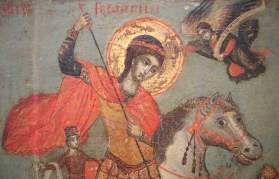 LARGE-FORMAT VITA ICON OF ST. GEORGE THE DRAGON SLAYER Greece - photo 2