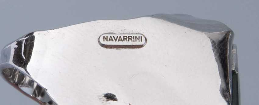 A Large Aquamarin-Brillant-Ring