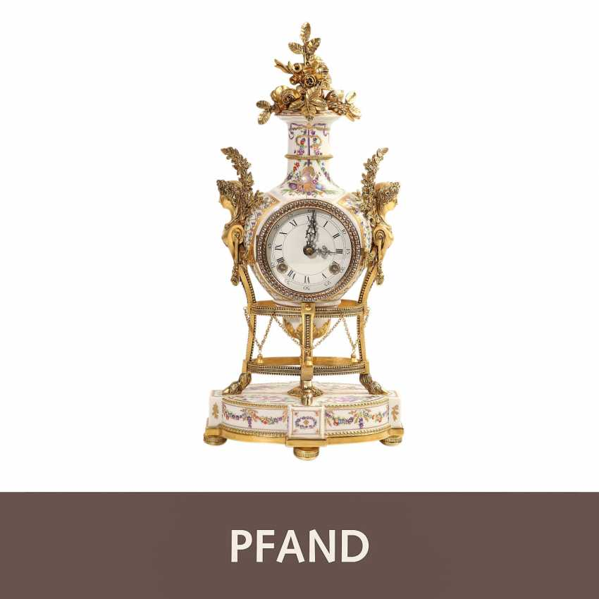 PLEDGE AUCTION - 1 Franklin Mint, Marie-Antoinnette's flower clock - photo 1