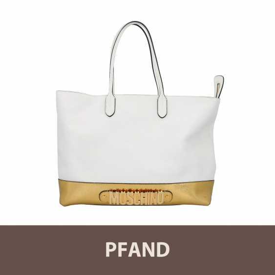PLANE AUCTION - 1 MOSCHINO shopper bag, white / gold colored - photo 1