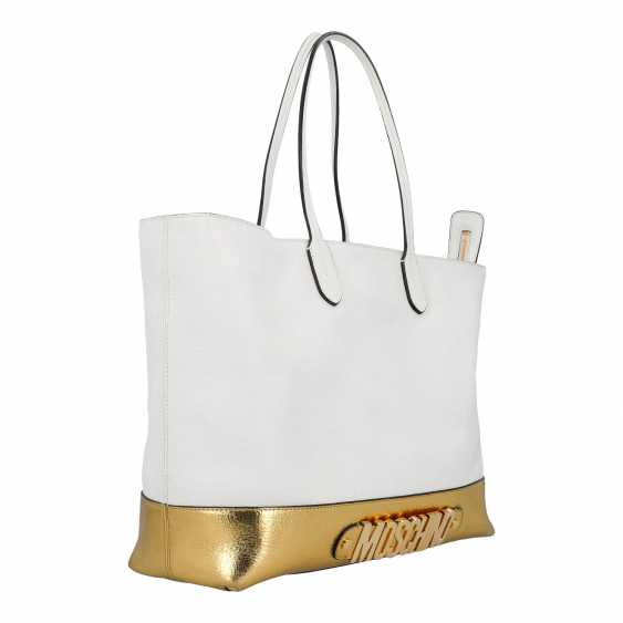 PLANE AUCTION - 1 MOSCHINO shopper bag, white / gold colored - photo 2