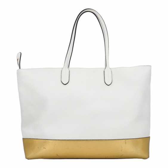 PLANE AUCTION - 1 MOSCHINO shopper bag, white / gold colored - photo 4