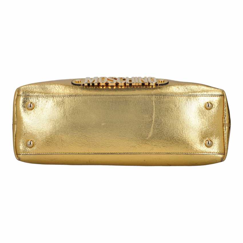 PLANE AUCTION - 1 MOSCHINO shopper bag, white / gold colored - photo 5