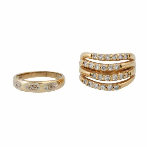 PLEDGE AUCTION - 1 ring with white stones (3 of them damaged) - photo 2