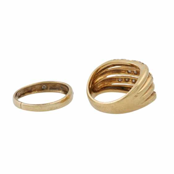 PLEDGE AUCTION - 1 ring with white stones (3 of them damaged) - photo 3