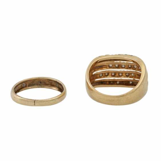 PLEDGE AUCTION - 1 ring with white stones (3 of them damaged) - photo 4