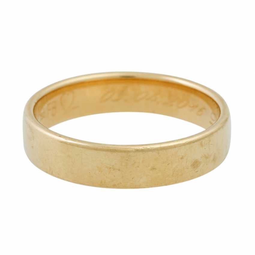 PLEDGE AUCTION - 2 wedding rings, tw. with diamonds, gold - photo 4