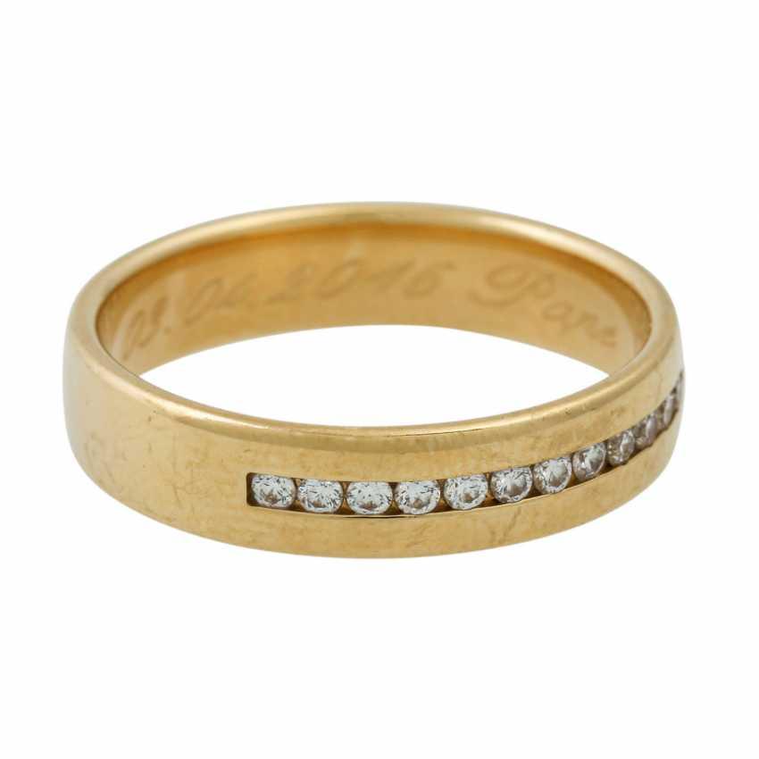 PLEDGE AUCTION - 2 wedding rings, tw. with diamonds, gold - photo 5