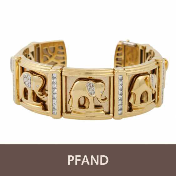 PFANDAUKTION - Armband with princess diamonds 3.65 ct, - photo 1