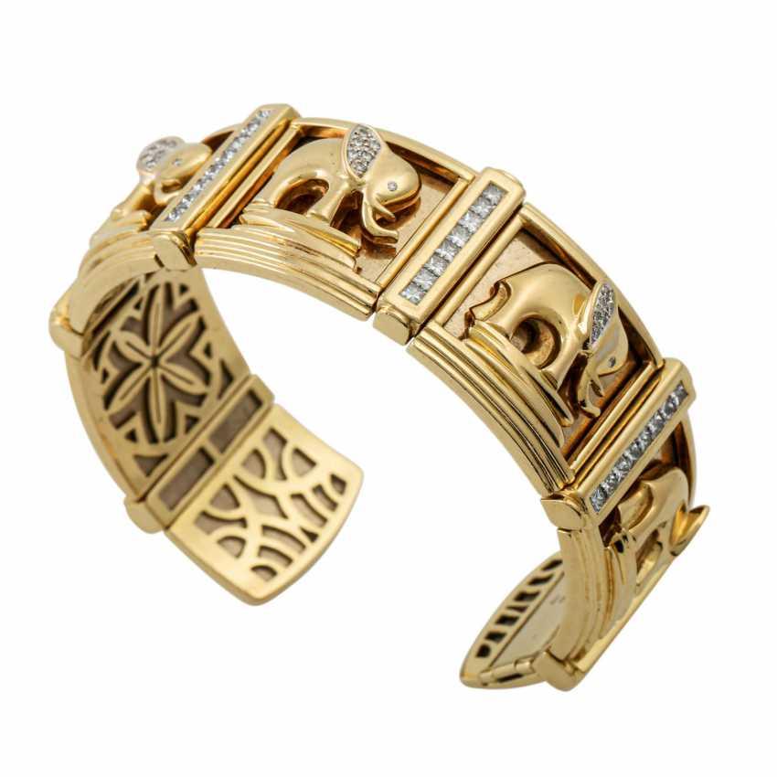 PFANDAUKTION - Armband with princess diamonds 3.65 ct, - photo 3