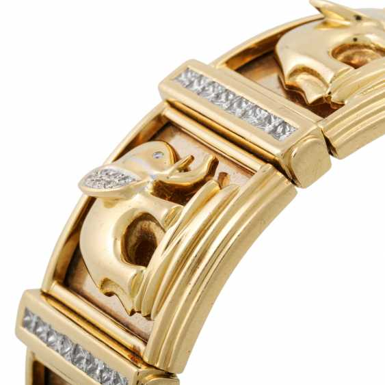 PFANDAUKTION - Armband with princess diamonds 3.65 ct, - photo 5