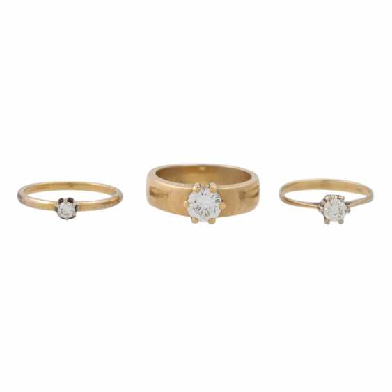 PLAFF AUCTION - 1 ring 18K yellow gold, 1 diamond approx. 1.21ct, TW / VS, - photo 2