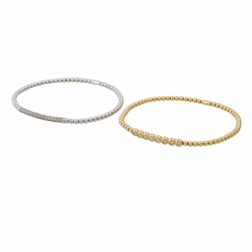 PLAFF AUCTION - 2 bracelets Brill Al Coro 1 bangle 1 ring Brill - photo 5