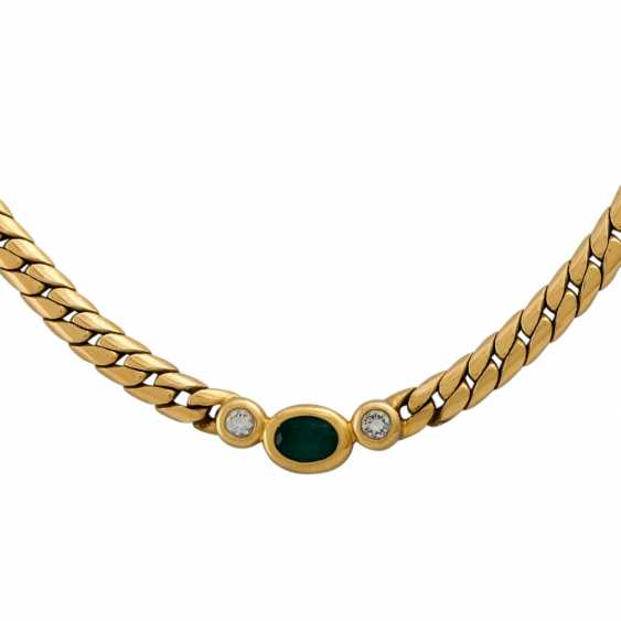 PLAFF AUCTION - 1 WEMPE necklace in 18K yellow gold with emerald - photo 3
