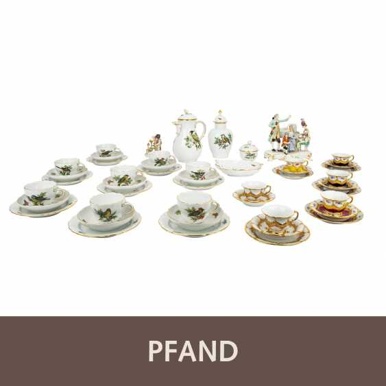 PLAFF AUCTION - MEISSEN mixed lot of figures and service, 1st choice, 20th century: - photo 1