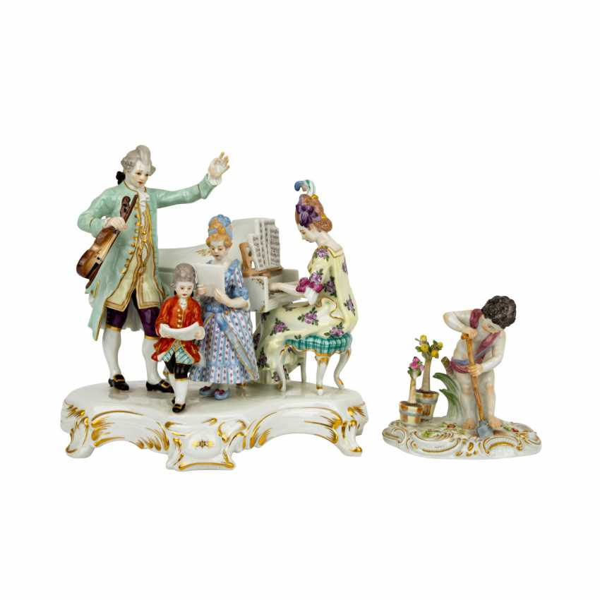 PLAFF AUCTION - MEISSEN mixed lot of figures and service, 1st choice, 20th century: - photo 5