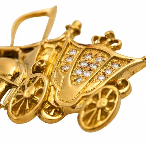 """VICTOR MAYER brooch """"horse-drawn carriage"""", - photo 5"""