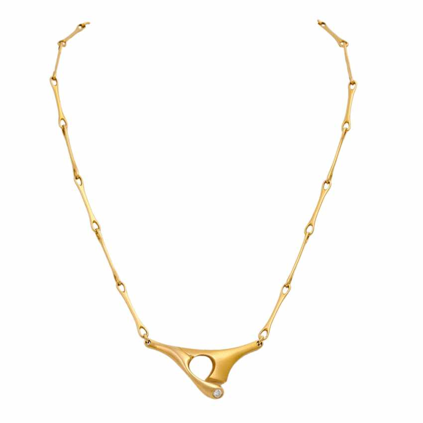 LAPPONIA necklace with a diamond of 0.1 ct (engraved), - photo 1