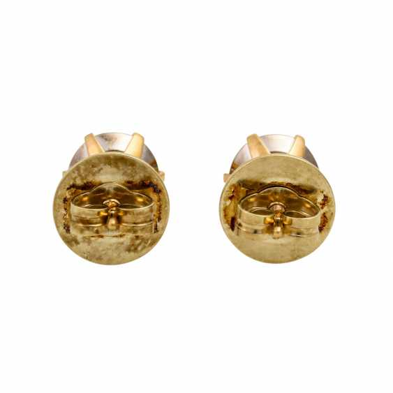 Stud earrings with diamonds totaling approx. 0.55 ct, - photo 4