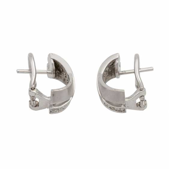 Earrings with diamonds totaling approx. 0.3 ct, - photo 1