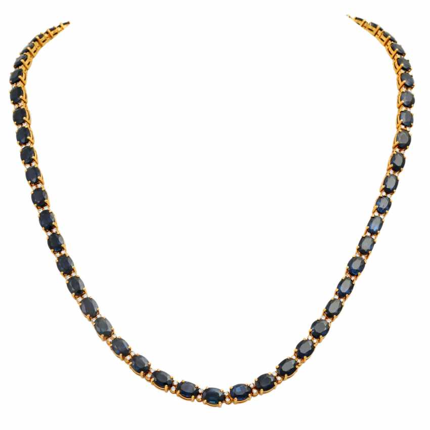 Collier with sapphires together approx. 35 ct - photo 1