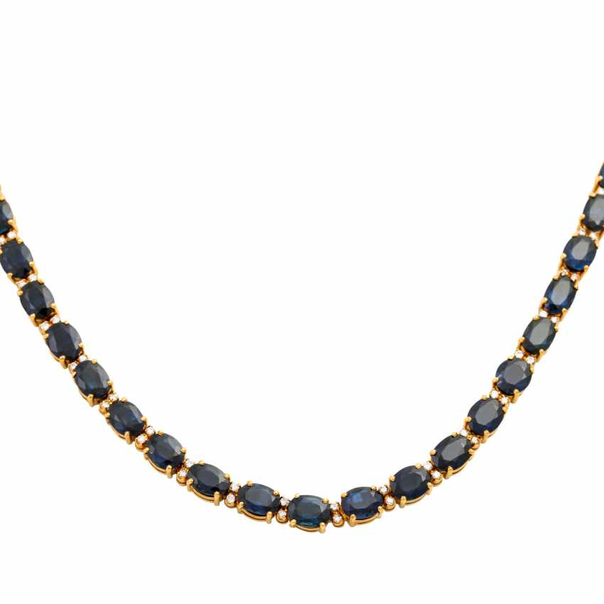 Collier with sapphires together approx. 35 ct - photo 2