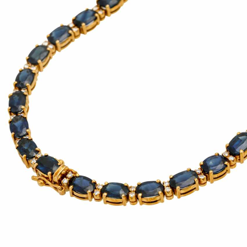 Collier with sapphires together approx. 35 ct - photo 4