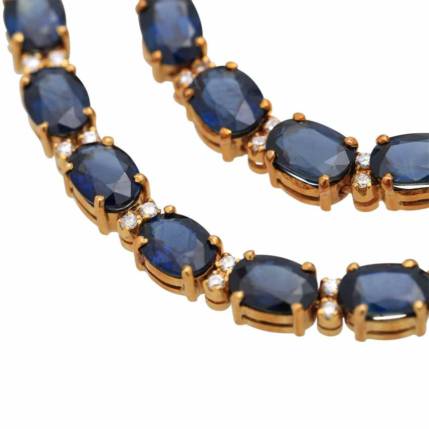 Collier with sapphires together approx. 35 ct - photo 6